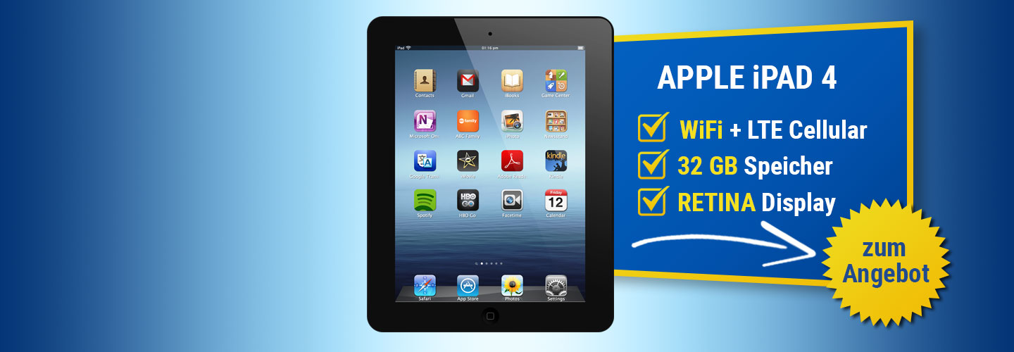 Angebot Apple iPad 4 32GB LTE